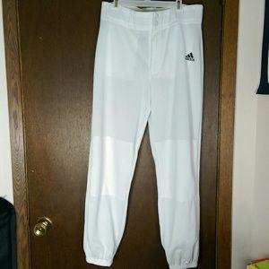 New Adidas baseball pants white